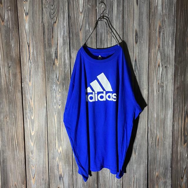 [adidas]big logo  blue T shirt