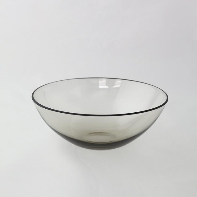 WASHIZUKA GLASS STUDIO bowl small(smoke) φ12.5 × H5.5cm ガラス スタイリッシュ