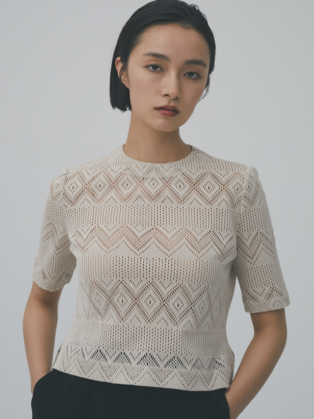 russell knitting pull-over