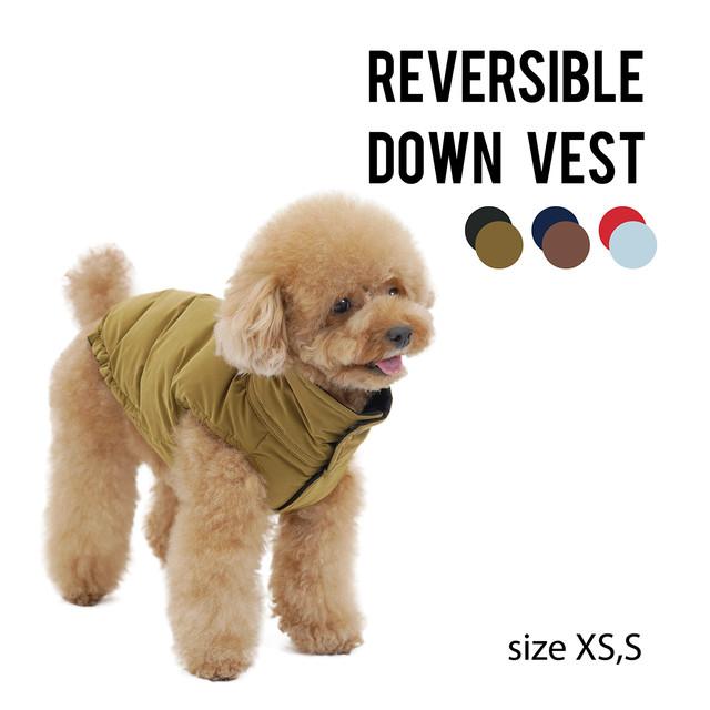 REVERSIBLE DOWN VEST(XS,S) リバーシブルダウンベスト