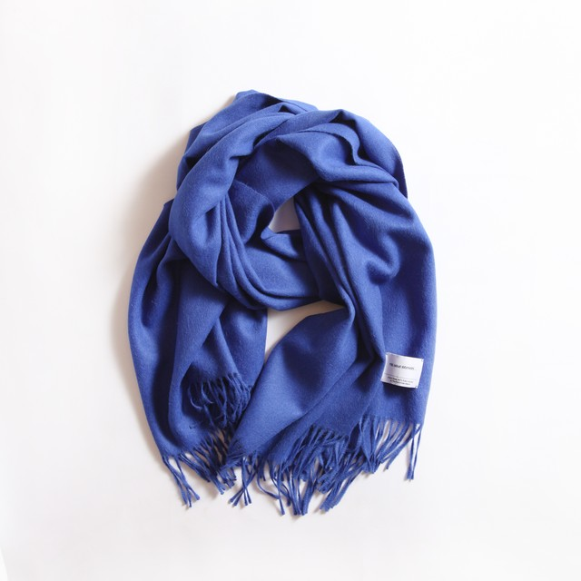 THE INOUE BROTHERS/Large Woven Stole/Electric Blue