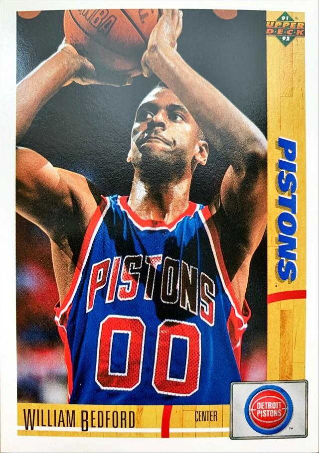 NBAカード 91-92UPPERDECK William Bedford #183 PISTONS