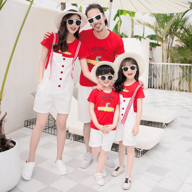 特別な親子服夏服3人家族と4人家族 サマー 夏物 贝丽西旗舰店 贝丽西旗舰店92043973460