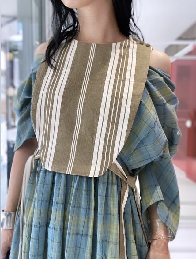 French fabric original vest (kurumi button)