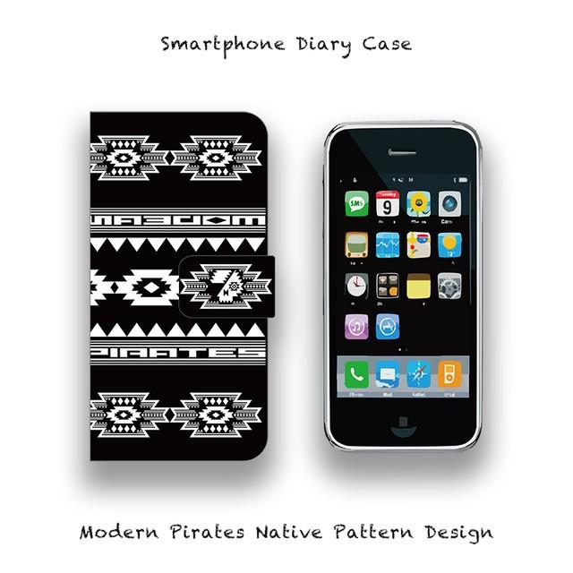 Smartphone Diary Case / Modern Pirates Native Pattern Design 002