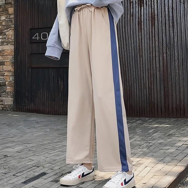 wide line jersey pants PD2682