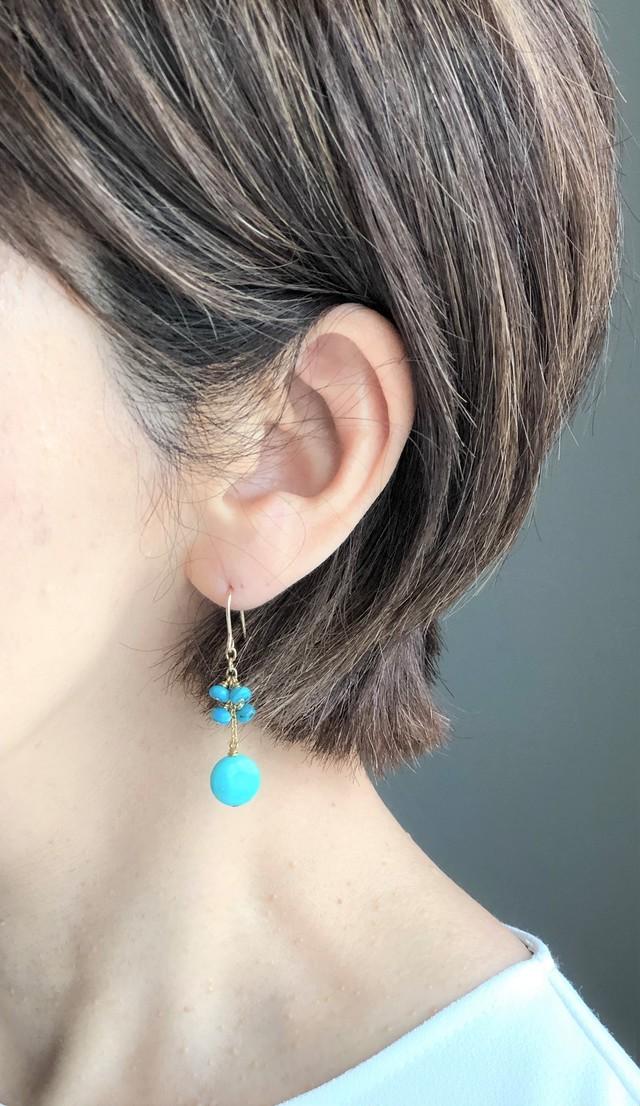 turquoise pierce / earring 016