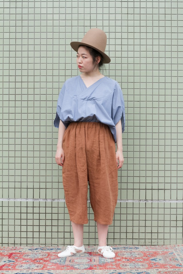 【Otsu】smoky quartz shorts (tobacco)