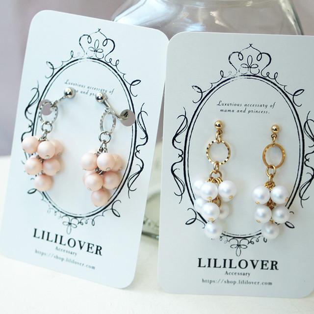 親子ペア-Luxurious Pearl-[ピアス・イヤリング]ラグジュアリーパール | 親子ペアのイヤリングやヘアアクセショップ Lililover