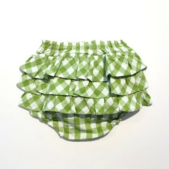 ミミプポン(mimi poupons) - フリルパンツ【アップルグリーンギンガム】