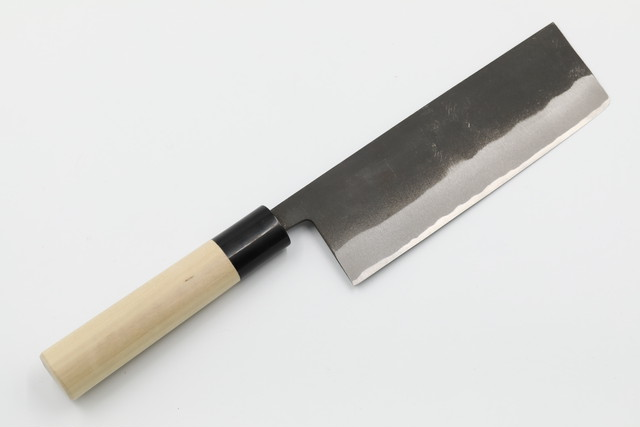 菜切り 黒打 水牛口丸柄