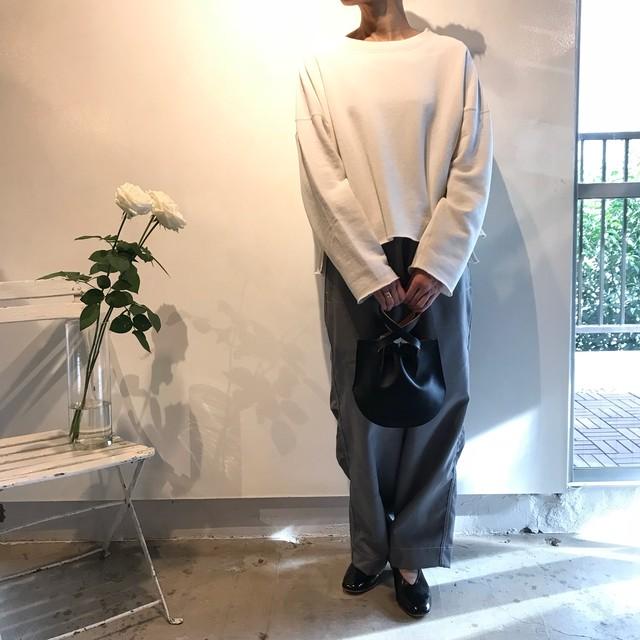 unfil (アンフィル) paper&cotton- terry sweatshirt