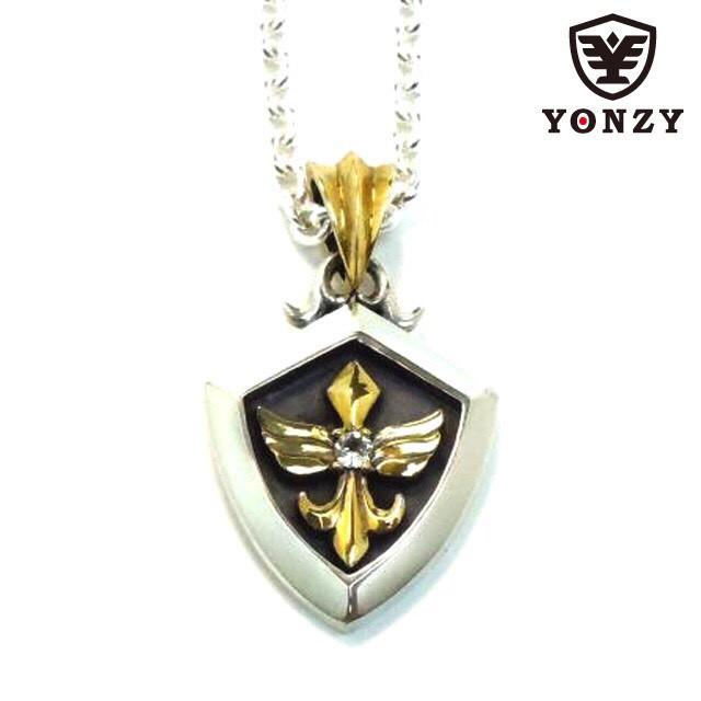 YONZY Phoenix Necklace Brass ホワイトトパーズ