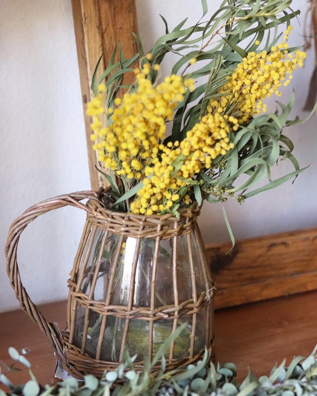 willow glass  pitcher