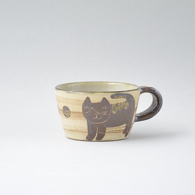 コバルト釉しのぎマグカップ