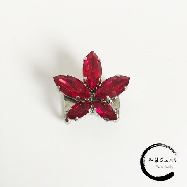 紅葉の帯留め(赤)