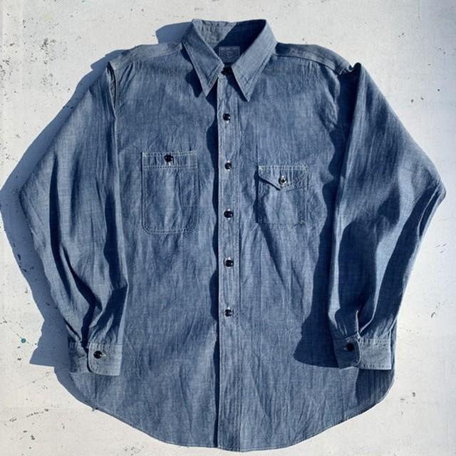 BIGYANK×ANATOMICA 1935 WORK SHIRT シャンブレーシャツ 実名復刻 ガチャポケ コンビニエンスポケット ストームカフス マチ付き 35SUMMERS 日本製 Lサイズ 美品 希少 ヴィンテージ