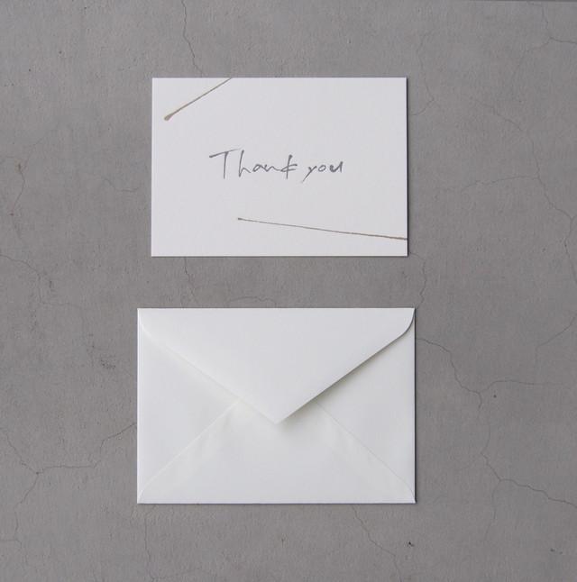 オリジナル ポストカード Thank you