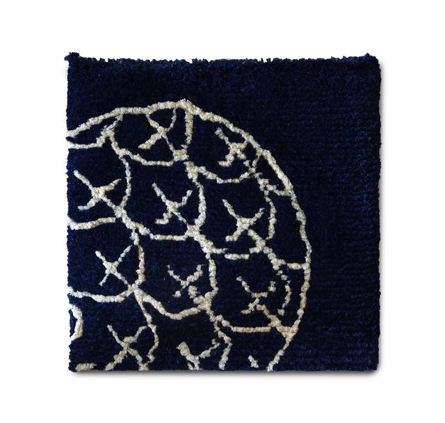 松波(藍、生成り)