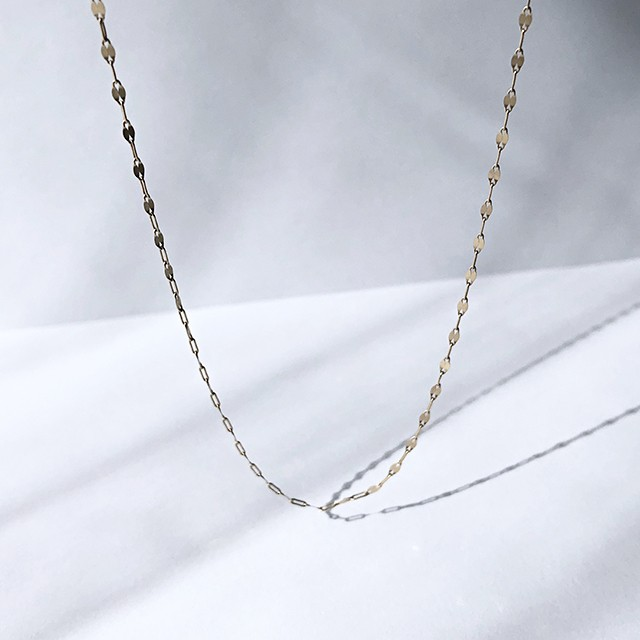 K10YG Design Chain Necklace / Matte