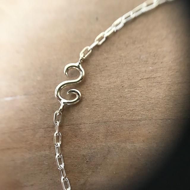 k18k10イニシャルS/bracelet
