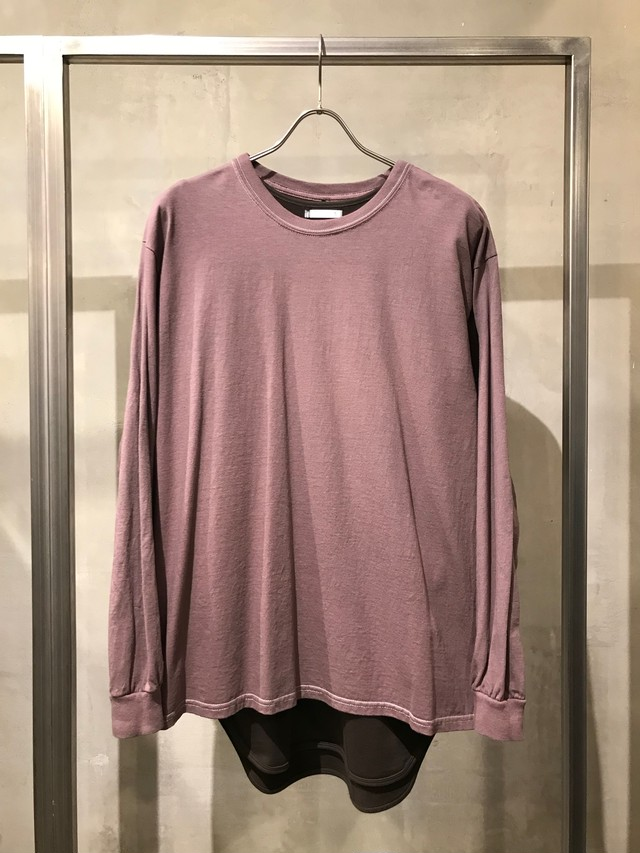 TrAnsference loose fit long sleeve T-shirt  - matured greige
