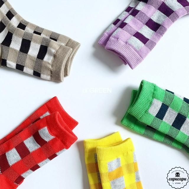 «sold out» tonton socks 5set  チェック ソックス 靴下