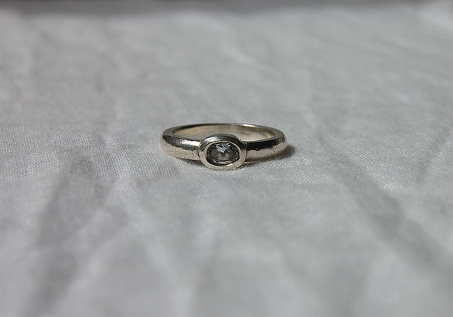 clear stone ring