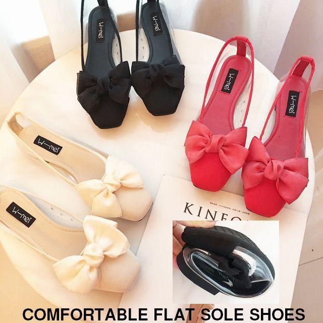 サイドクリアフラットシューズ 歩きやすい 痛くない / COMFORTABLE FLAT SOLE SHOES (DCT-572348408019)