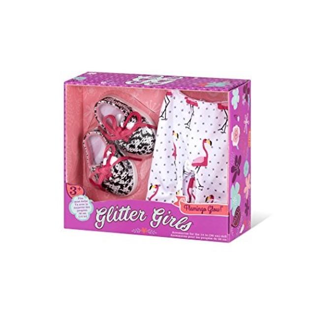 Shoes and Leggings Accessory Set Glitter Girls by Battat 1... Flamingo Glow