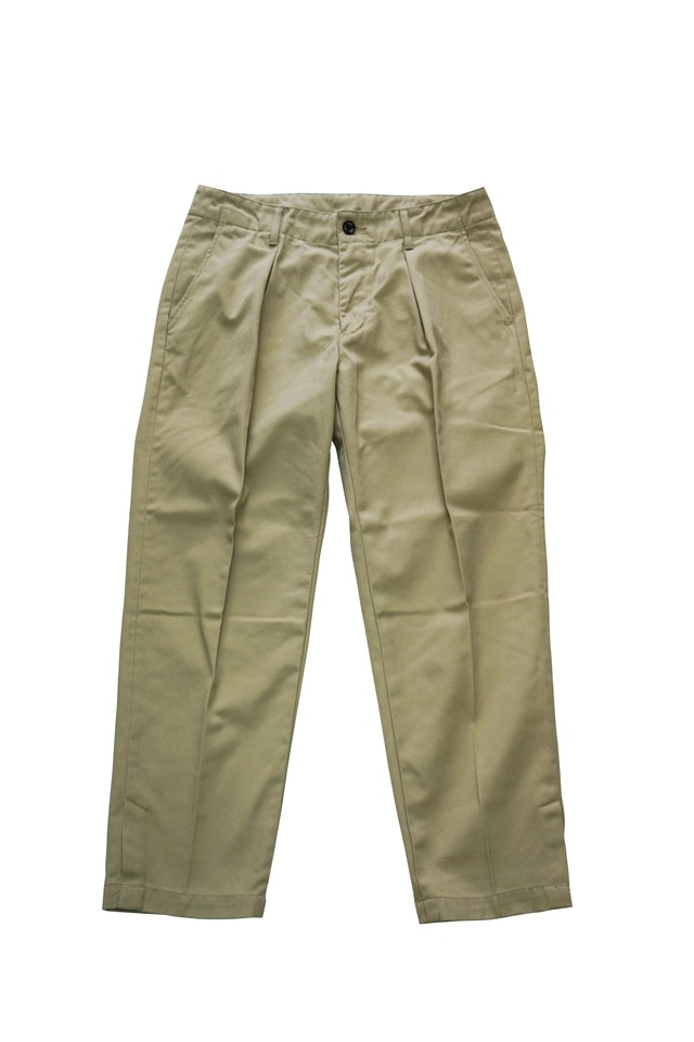 T/C TWILL WIDE PANTS (BEIGE)