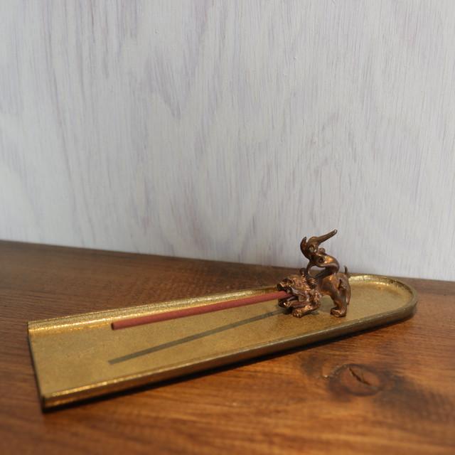香の器セット ― 笹 ― 真鍮