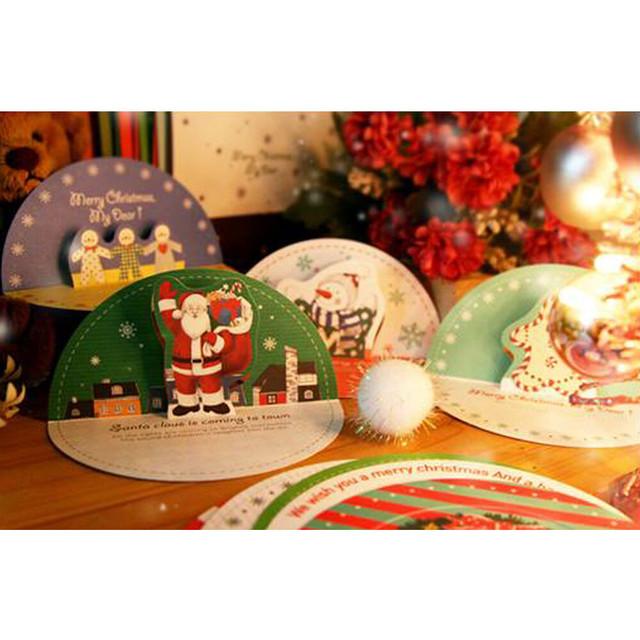 まあるいクリスマスカード★封筒付き