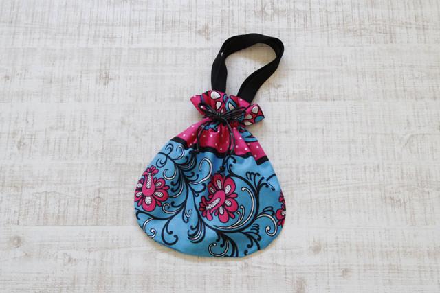 巾着バッグ カンガ / アフリカ布 / インナーバック