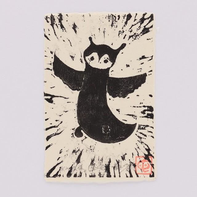 田中毅/つよむしよわむし版画  氷の天使