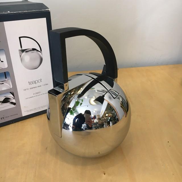 """Oliver Hemming オリバーヘミング Italy """"nio"""" teapot ティーポット #C8201"""