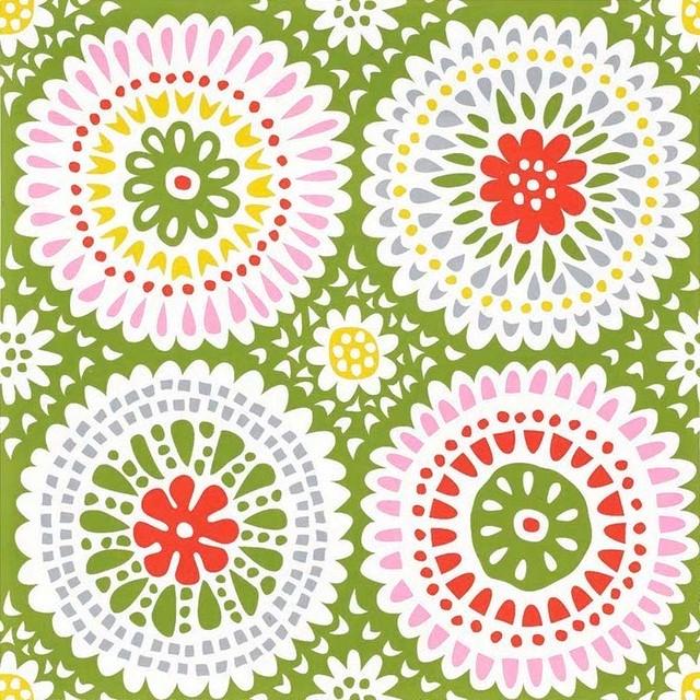 北欧【KLIPPAN】バラ売り1枚 ランチサイズ ペーパーナプキン LOUISE グリーン
