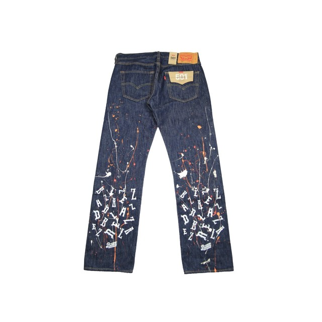KB PAINT Levi's 501 ORIGINAL *DEAD STOCK