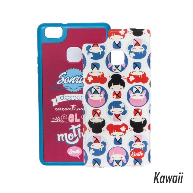 スマイル 着せかえ スマホケース iPhone7 Kwaii 【Case 2 in 1 Dress Me】 sml17053018wh