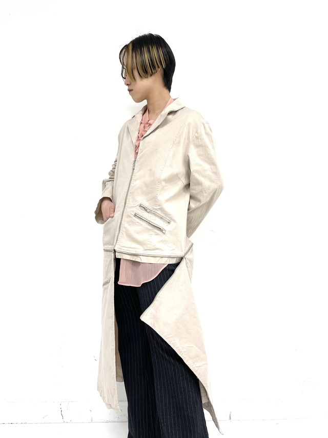 zip separate design spring coat / 3SSOU14-16