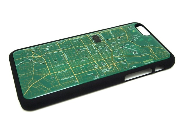 FLASH 京都回路地図 iPhone6/6s  ケース  緑【東京回路線図A5クリアファイルをプレゼント】