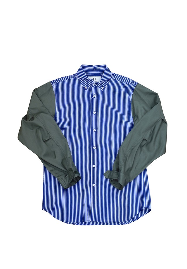 MODS SLEEVE SHIRTS (NAVY STRIPE)
