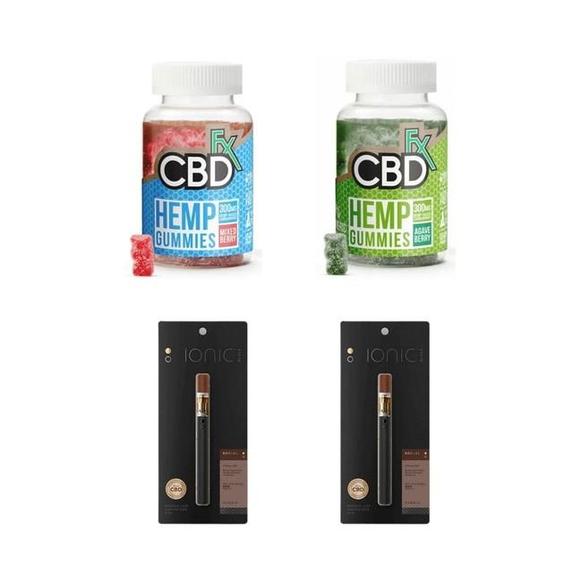 【¥1,477 OFF】選べるスタンダードセットD:CBDグミ + CBDリキッド使い捨てベイプペン