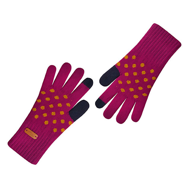 Touch screen gloves - Dancing Dot (violet)