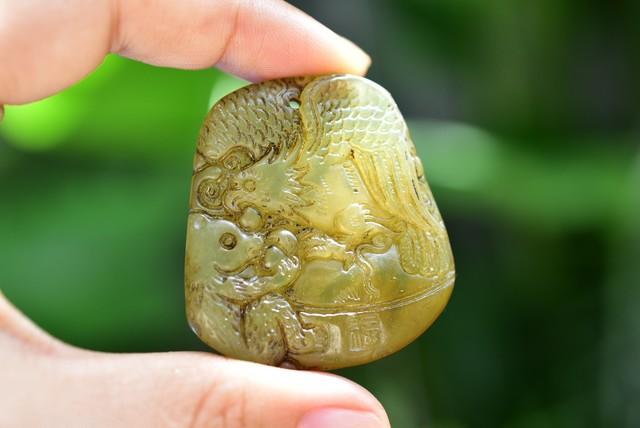 中国伝統美術★手彫り★ルース  age005