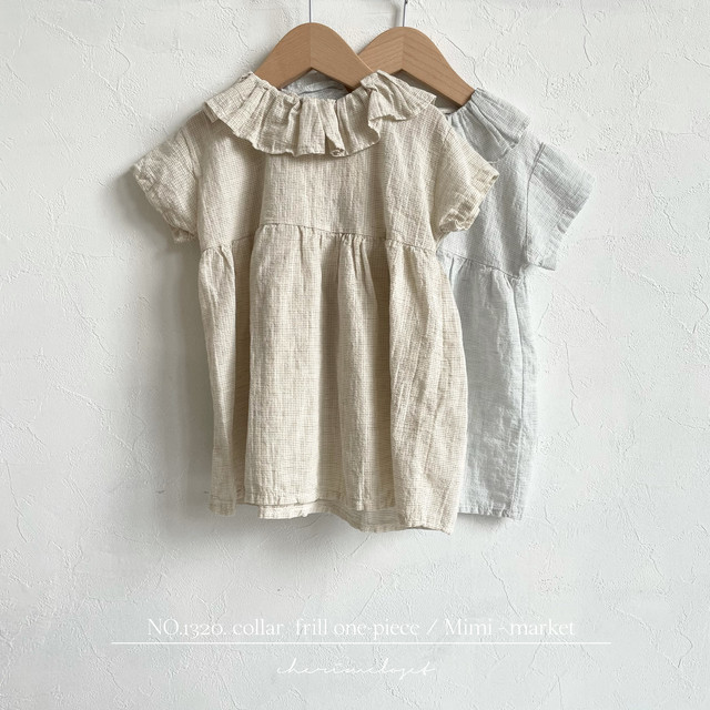 NO.1320. collar  frill one-piece / Mimi - market