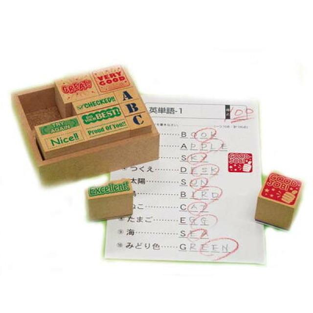 スタンプ 木製英語評価印セット SOH-006