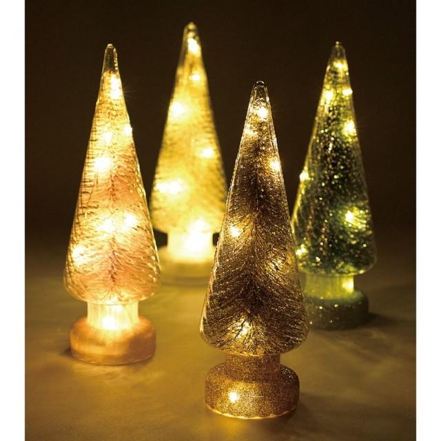 クリスマス グリッターLEDツリー ゴールド Lサイズ HZXH3803GD