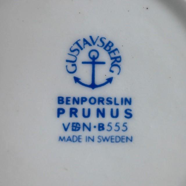 Gustavsberg グスタフスベリ Prunus プルーヌス ティーカップ&ソーサー-1 北欧ヴィンテージ