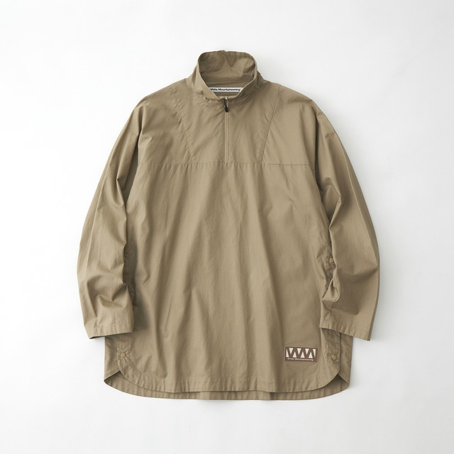 TWILLED PILLOVER SHIRT - BEIGE